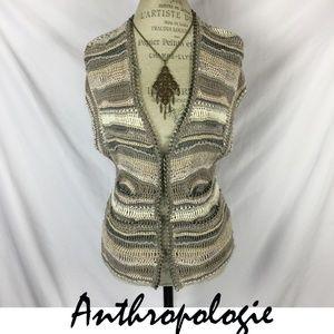 Anthropologie Leifsdottir handknit chain Sweater S